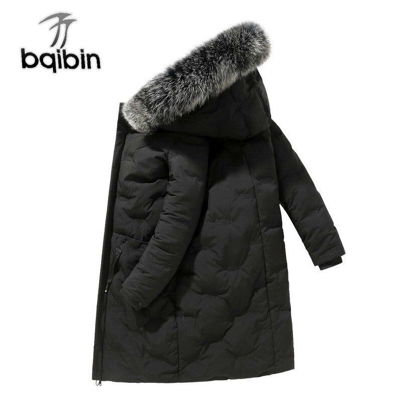 Fashion   Down   Jacket Men Warm Winter Jacket Hooded Fur Collar   Down     Coats   Windbreaker Casual Men Long Overcoat J639