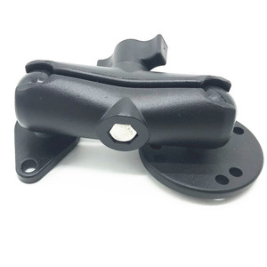 Image 3 - אופנוע עגול ויהלומים בסיס כדור הר 9.4cm כפול שקע זרוע עם חור AMPS דפוס עבור Ram Mounts עבור gopro GPS