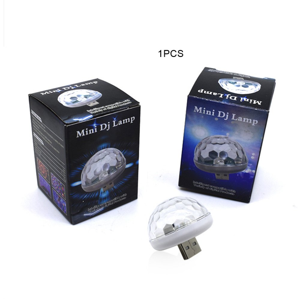 Voice Control Little Magic Ball Light Rgb Mobile Phone Android Apple Usb Magic Fan You Lantern Car Dj Stage Light