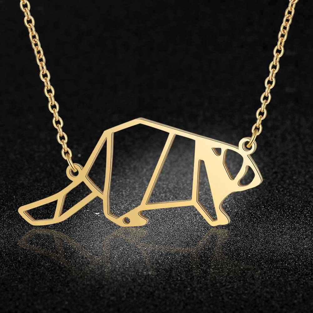 Unique Animal Beaver Necklace LaVixMia Italy Design 100% Stainless Steel Necklaces for Women Super Fashion Jewelry Special Gift