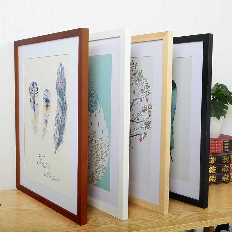 A4 A3 Wooden Frame Black White Color Photo Frames for Wall Art Picture Frames  Photo Frames for Picture Walnut Wood Frames