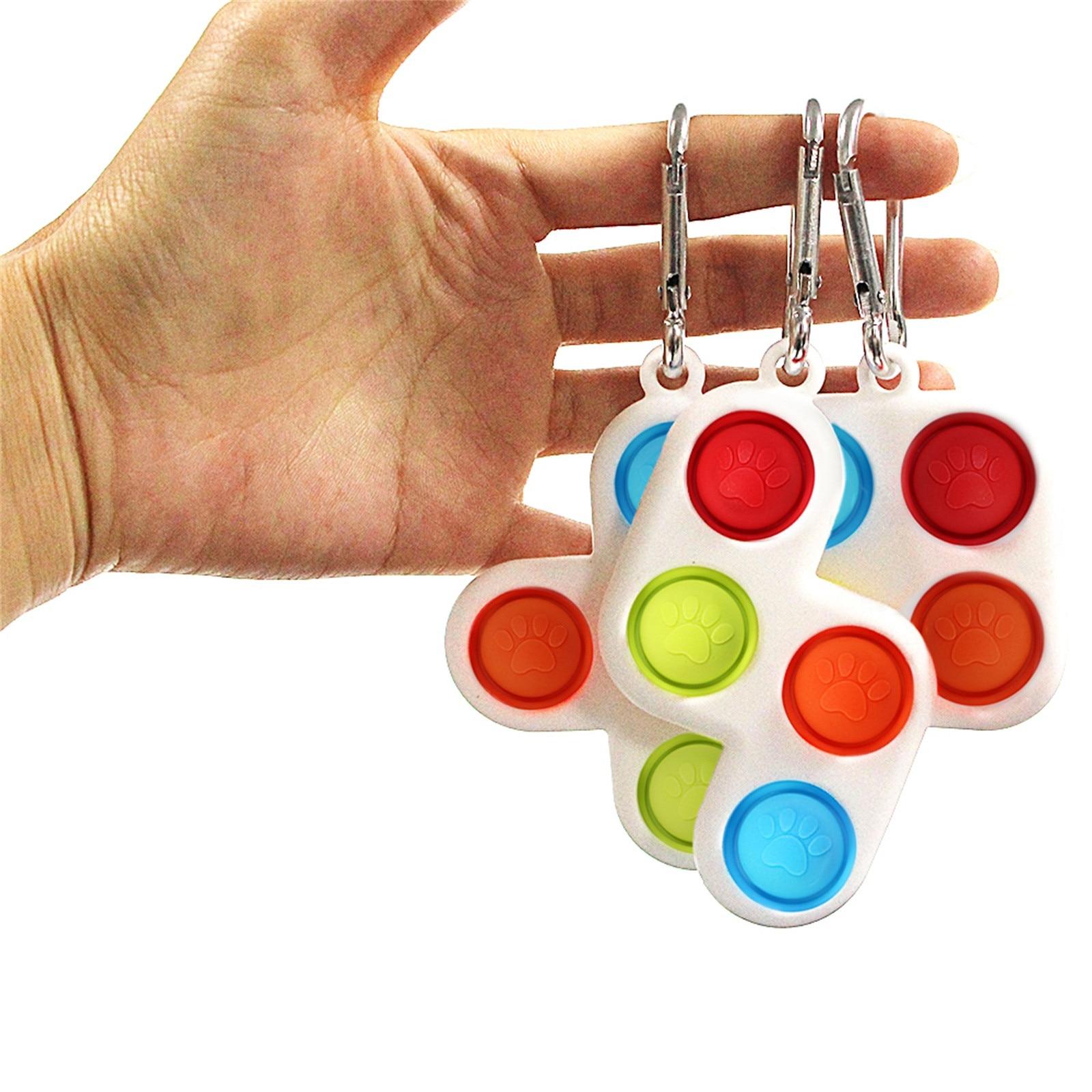 Fitget Toy Fidgets Simpel Dimpel Mini Anti-Stress-Board Pop-It-Keychain-Controller Kids img5