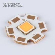 GT-FC40 12V 4A, wysoki CRI, 3000-3500lm, 7070 LED, z 20mm płytą miedzianą