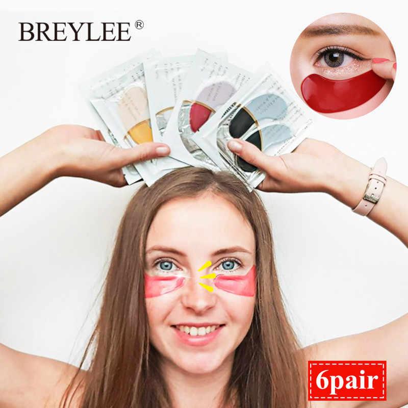 Breylee Vàng 24K Mặt Nạ Mắt 6 Đôi Collagen Crystal Serum Miếng Dán Mắt Chống Nhăn Bọng Mắt Mặt Dưỡng Da -Lão Hóa Tấm Mặt Nạ