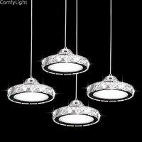 الحديثة الشمال كريستال قلادة أضواء التعميم المعيشة غرفة الطعام المطبخ غرفة نوم لوحات فنية معلقة مصابيح مكتب متجر الإضاءة led-في أضواء قلادة من مصابيح وإضاءات على