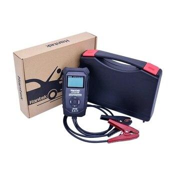 HT2018B probador de batería Digital de coche Analizador de voltaje de carga de batería de vehículo 6 V/12 V/24 V LCD probador de sistema de batería automotriz