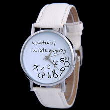 Women's Watch Leather Belt Quartz Wristwatches Creative Personality Digital English Students Watch Girl Fashion Casual Dresses fashion creative quartz watch personality minimalist leather normal led watch men women unisex wristwatches couple clock lz2209