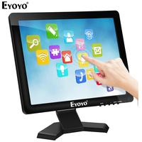 Eyoyo EM15T 15 Touch Screen 4:3 POS Monitor HDMI VGA 1024×768 Speaker LCD Display for POS Cash Register system Computer Laptop