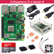 Cooling-Fan Raspberry Pi Micro-Hdmi Rpi 4 Sd-Card 4-Model-B-Kit for Switch-Power Heat-Sink