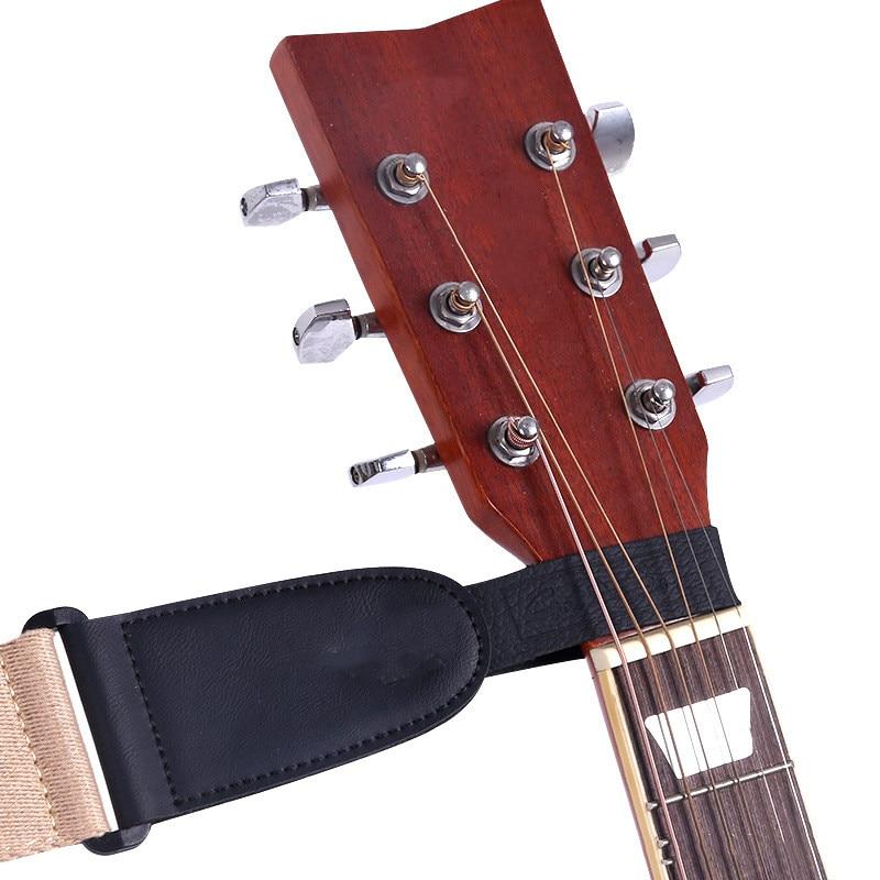 Suport pentru chitară din piele durabilă, buton, blocare sigură, - Instrumente muzicale - Fotografie 2