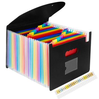 A4 teczki Folder list przenośny teczka na dokumenty z 13 24 kieszenie zgłoszenia foldery Organizer na biurko przechowywania biuro tanie i dobre opinie CN (pochodzenie) Rozszerzenie portfel Z tworzywa sztucznego YS1200 Plastic 33X 25X 4CM Document storage supplies Organ bag