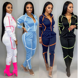 ANJAMANOR 2 Piece Set Tracksuit Hoodies Pants Women's Clothing 2020 Fall Winter Fashion Matching Sets Womans Sweat Suits D45DI60