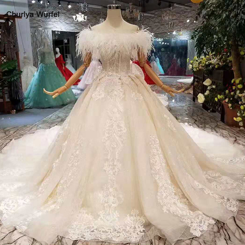Lss239 Special Wedding Dresses Ostrich Feather Off The Shoulder Boat Neck Ball Gown Lace Big Bow Hot Selling Sukienka Biala Aliexpress,Jacket Dress For Wedding Guest