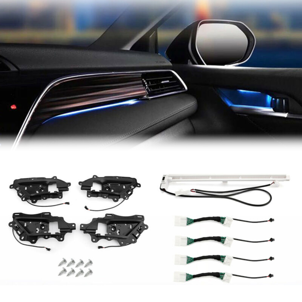 Car Ambient Door Light Decorative LED Lamp Strips For Toyota Camry 2018 SS TZ2 Direct Replacement Car Styling Accessories
