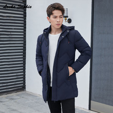 Mens Plus size Slim fit down jacket 2019 Winter White Duck Down Splicing Hooded thickening Jacket Men Skinny jackets Coats