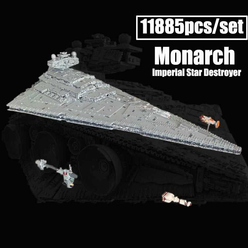 Nuovo 11353PCS Monarch Imperial Star Destroyer MOC-23556 Fit Star space Wars Building Blocks mattoni regalo giocattoli di natale per bambini