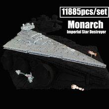 Новый 11353 шт. Monarch имперский Звездный Звездного разрушителя, MOC-23556 подходит с космическим звездным принтом Звездные войны конструкторных бл...