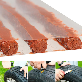 5pcs/set/sheet Tubeless Tire Repair Strips Stiring Glue for Tyre Puncture Emergency Car Motorcycle Bike Tyre Repairing Rubber wh image