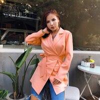 2019 Autumn Women Elegant V Neck Blazer Dress Bandage Bodycon Short Jackets Dress Female Office Ladies Casual Dress Outfits