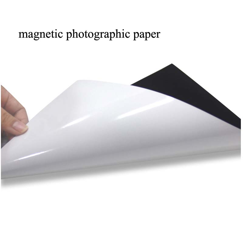 Magnetic Photographic Paper A4 4R Magnetic Paste Inkjet Printing Photo Paper Glossy Stickers Diy Fridge Magnet