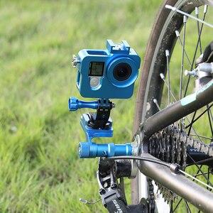 Image 5 - Glorystar Cnc Aluminium Fiets Stand Mount Bracket Base Houder Adapter Voor Gopro Hero 876543S Osmo Xiaomi Yi Sj5000 Sport camera