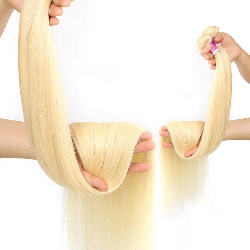 Monstar 1/3/4 613 Blond Steil Haar Bundels Peruaanse Remy Human Hair Extension Honey Blonde Bundels 8- 40 inch Gratis Verzending