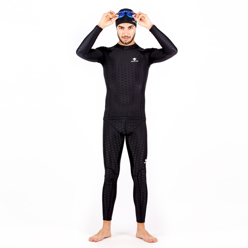 New Professional UPF 50+ Long Sleeve Pants Sun Protection Basic Skins Surfing Diving Swim Shirt Trousers Beach Surfing SwimSuit