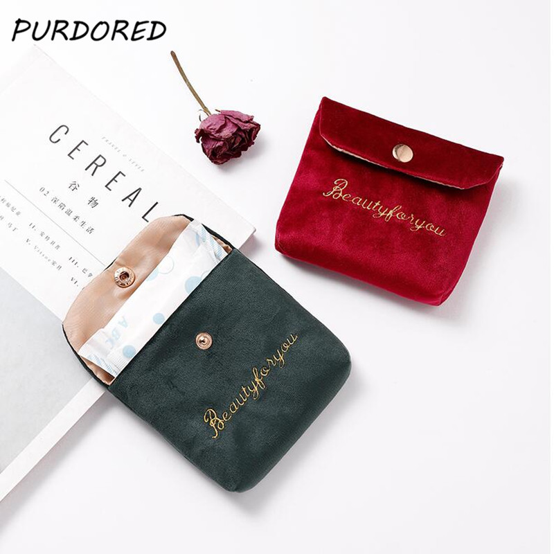 PURDORED 1 Pc Mini Lipstick Bag For Women Velvet Small Cosmetic Bag Travel Makeup Case Lipstick Organizer Pochette Maquillage