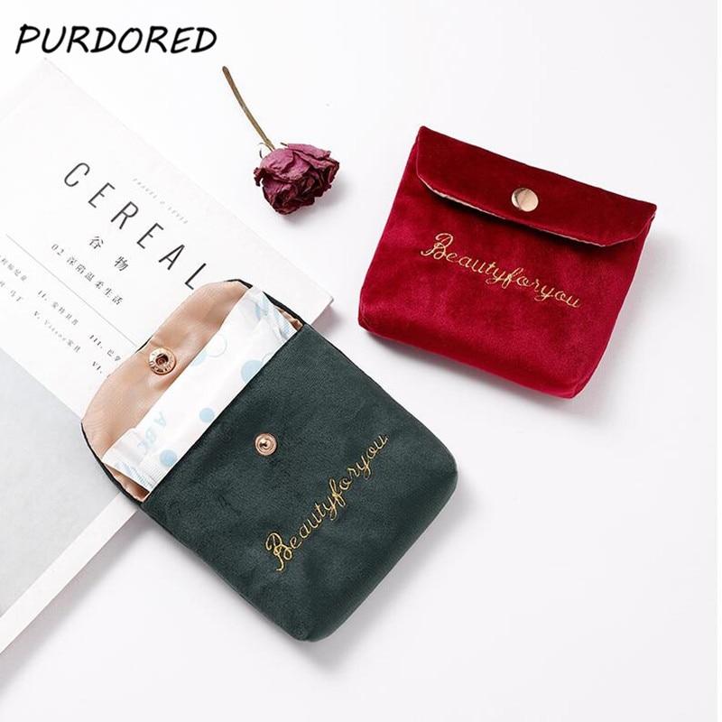 PURDORED 1 Pc Mini Lipstick Bag For Women Velvet Small Cosmetic Bag Travel Makeup Case Lipstick Organizer Pochette Maquillage