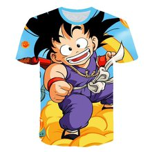 2019 Nieuwe zomer Harajuku Japan Dragon Ball Z Ultra Instinct Goku Super Saiyan God Broli T-shirts Kids Cartoon 3D gedrukt T-shirt(China)