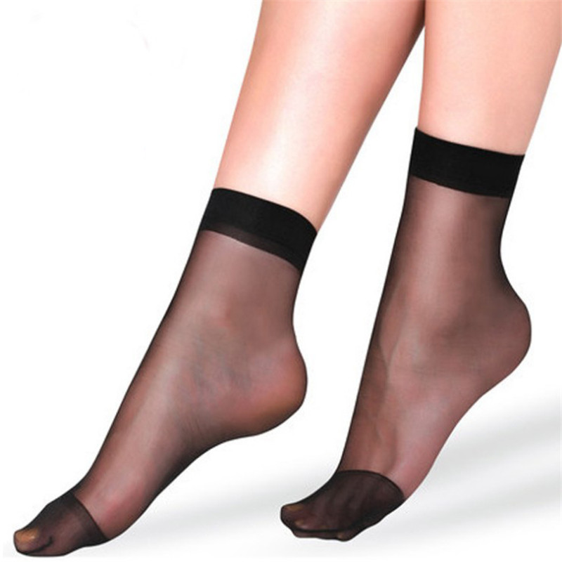 Silk Socks Summer Bamboo Female Short Thin Crystal Transparent Girl Ankle Sox