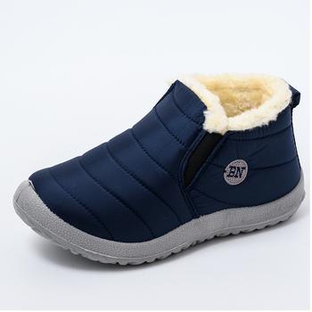 Buty damskie ultralekkie buty zimowe damskie kostki Botas Mujer wodoodporne buty śnieżne damskie Slip On codzienne buty pluszowe obuwie tanie i dobre opinie HAJINK CN (pochodzenie) Dół ANKLE Szycia Stałe K01120 Dla dorosłych Mieszkanie z Podstawowe Okrągły nosek Zima Krótki pluszowe