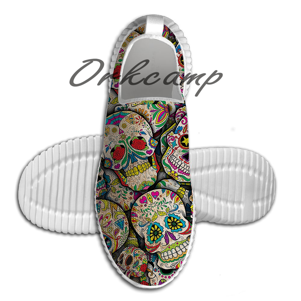 Sugar Skull Collage Running Shoes Walking Shoes Summer Comfortable light weight Jogging Yoga shoes