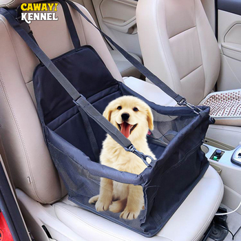 CAWAYI KENNEL Travel Dog Car Seat Cover Folding Hammock Pet Carriers Bag Carrying For Cats Dogs transportin perro autostoel hond 1