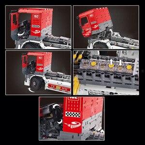 Image 5 - Molde rei 13152 técnica carro brinquedos compatíveis com MOC 27036 app motorizado caminhão de corrida mkii blocos de construção crianças presentes natal