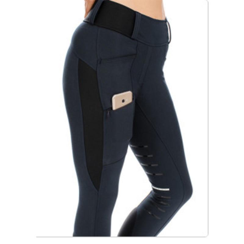 Брюки для верховой езды женские, эластичные облегающие брюки со средней талией, с карманами, штаны для бега и скалолазания
