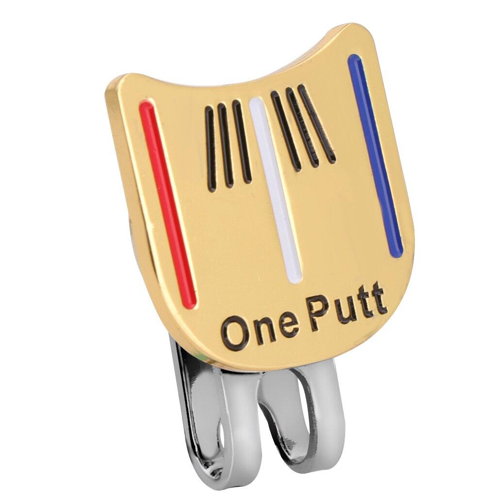 Golf Cap Visor Clip  Marker Putting Putt Alignment Aiming Tool