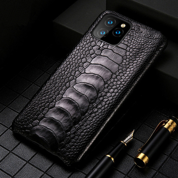 Luxury Genuine Natural ostrich feet cases for iPhone 11 11Pro MAX Original Leather FHX-KZ Case for iPhone 7 8 Plus X XR XS MAX