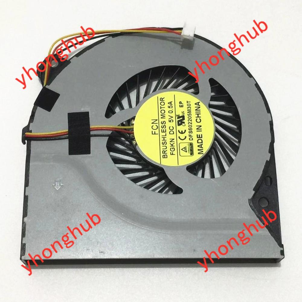 Delta FCN DFS602205M30T KSB0705HA CM1G DC 5V 0.40A ventilateur refroidisseur serveur 3 fils