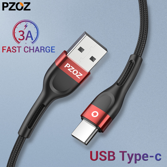 PZOZ Type c usb cable for Redmi note 7 K20 pro Fast Charge USB type c cable usb c cable fast charge samsung s10 S9 usb c charger