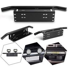 Car parts Universal Bull Bar Front Bumper License Plate Log Light Mount Bracket SUV Lamp Holder Off Road LED Aluminum