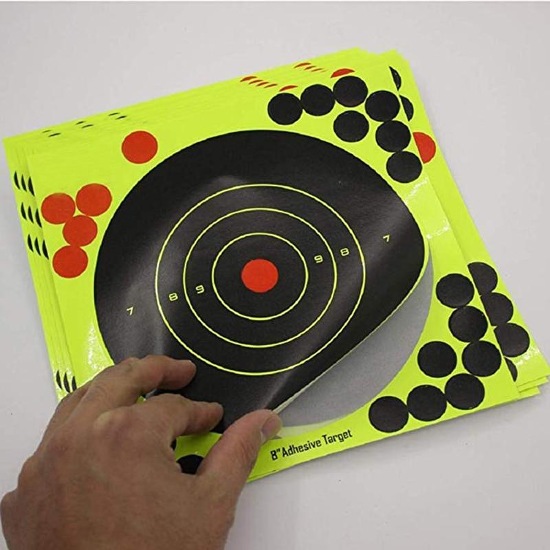 10Pcs Lot Color Splash Flower Target 8-Inch Adhesive Reactivity Target Stickers Lightweight Shoot Target Durable Reactivity Aim