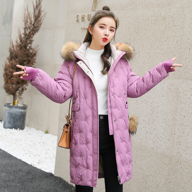 Women&39;s Jacket Large Size 2019 Female Long Hooded Fur Collar Parka_B9_20