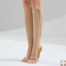 Zipper Tube Socks Compression Compression Stockings Shank Protection Stovepipe Socks Stockings Peep Toe Socks