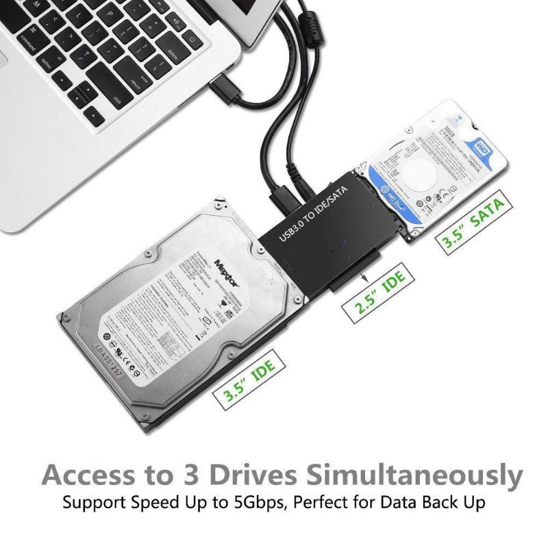 5GBPS High Speed Universal Converter USB3.0 To SATA/IDE 2.5in 3.5in External Hard Disk Case Box Adapter Cable For PC Laptop