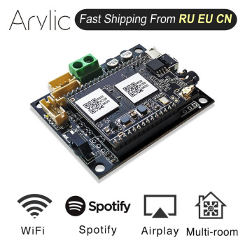 Up2stream Mini WiFi Audio Receiver Module Board with Spotify Airplay DLNA 24bit 192kHZ FLAC Multiroom Free Android iOS App