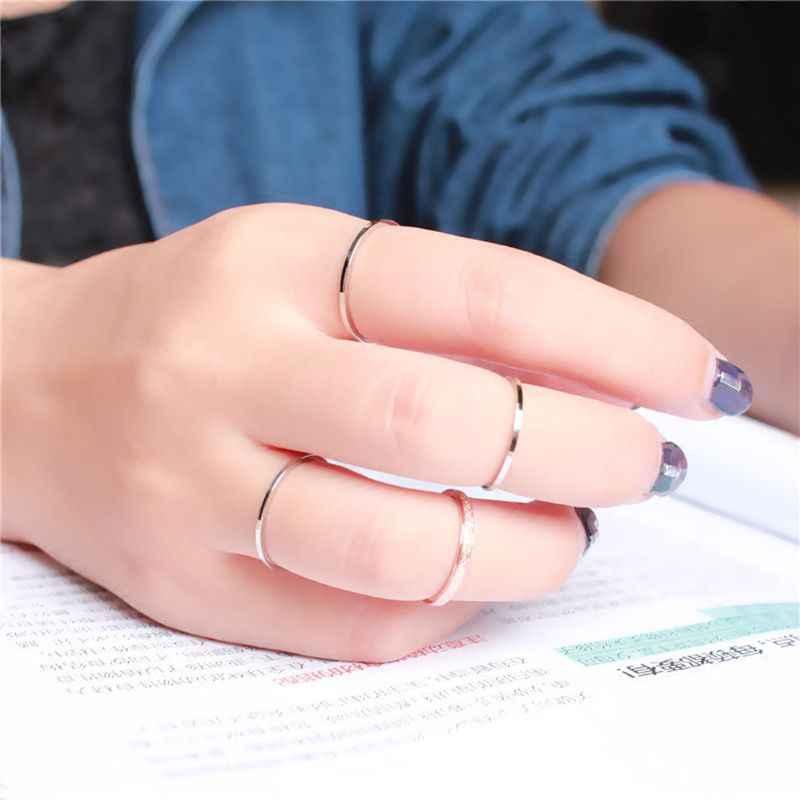 Минималистичное 1 мм супер обтягивающее гладкое титановое стальное штабелированное кольцо Модные ювелирные изделия AXYD