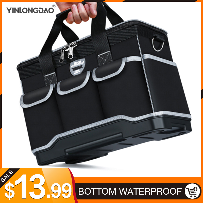 "Multifunction Tool Bags Size 13"" 16""18"" 20"" Oxford Cloth Bag Top Wide Mouth Electrician Special Tool Kit Bags Waterproof Toolkit"