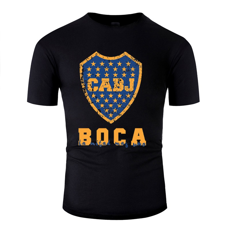 New Arrival Boca Juniors, Argentina Tshirt Men Anti-Wrinkle O-Neck Boy Girl Tshirts Homme Hip Hop