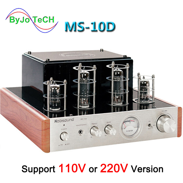 Nobsound MS 10D צינור מגבר אודיו כוח מגבר 25W * 2 ואקום מגברי תמיכה 110V או 220V Hifi מגבר MS 10D